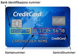 kortnummer mastercard